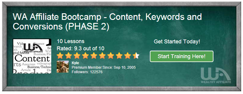 Wealthy Affiliate's Bootcamp Phase 2