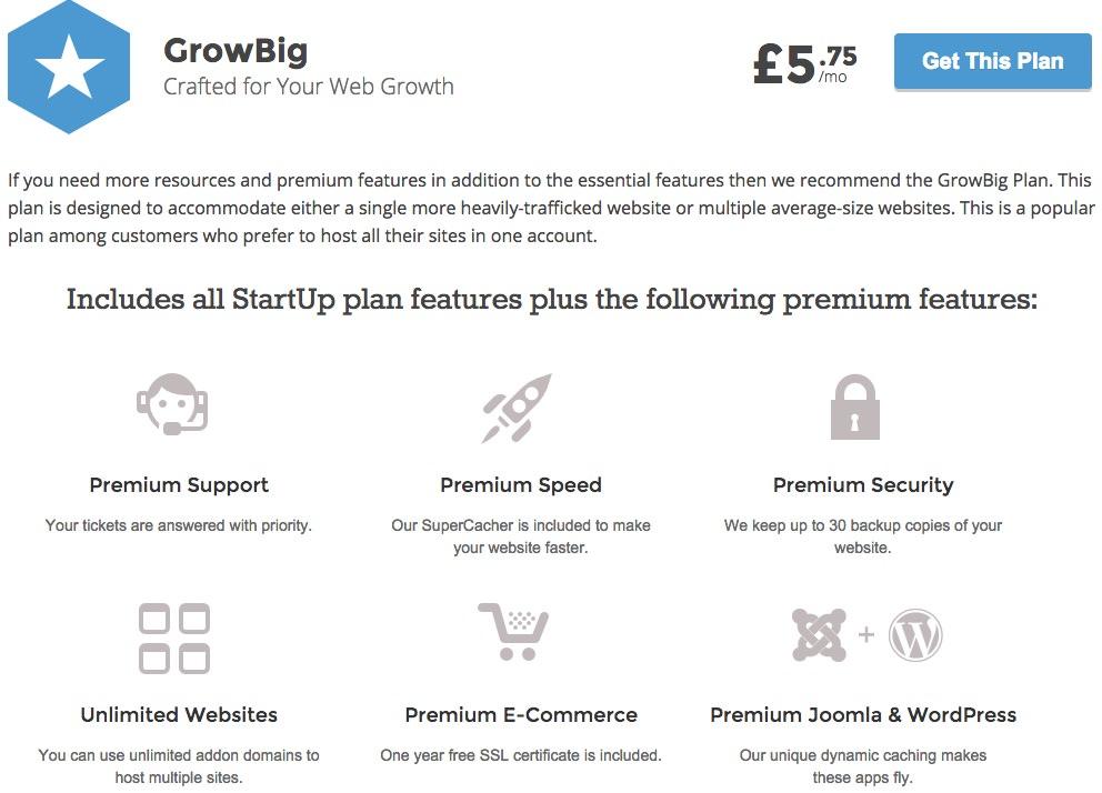 siteground grow big package