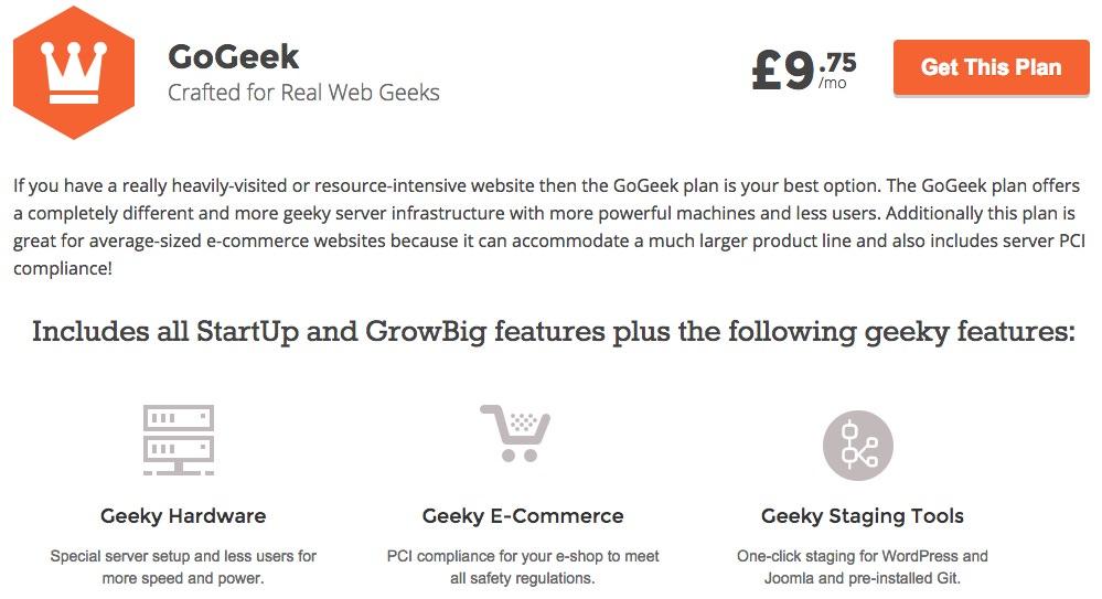 Siteground gogeek package